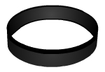Swinger Lifestyle Black Wristband